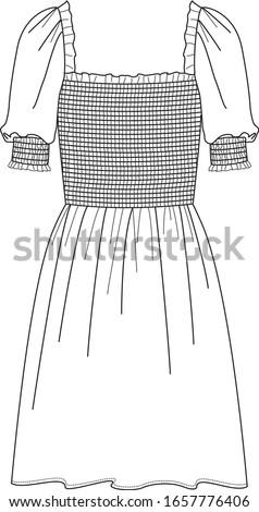 dress  fashion flat sketches