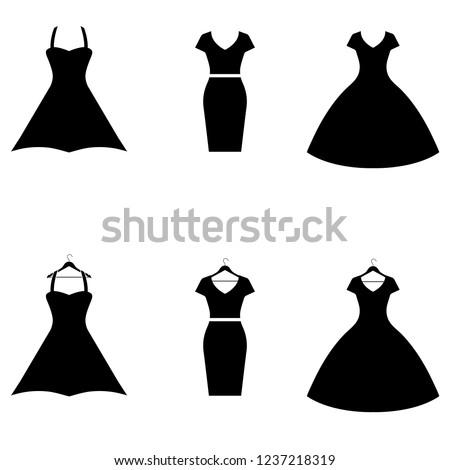 Dress icon, logo on white background