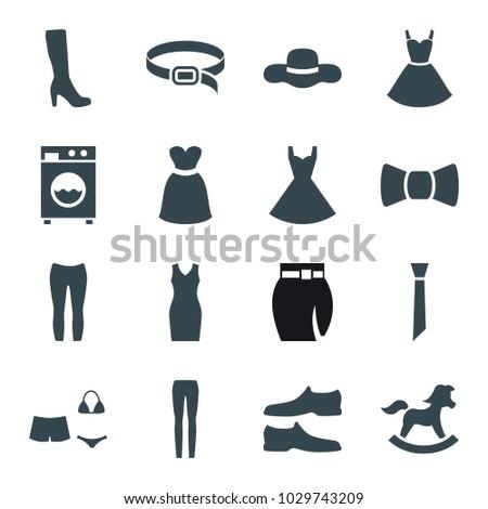 dress icons set of 16 editable