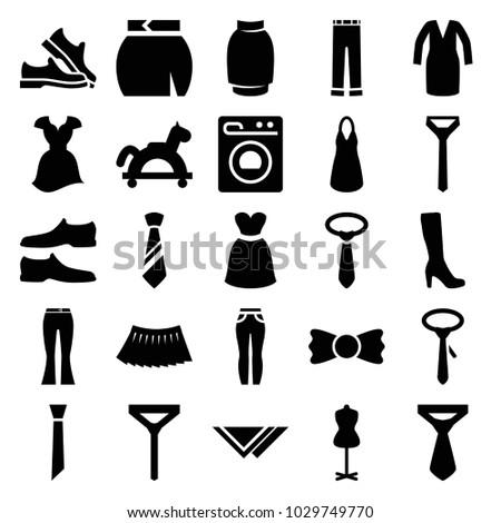 dress icons set of 25 editable