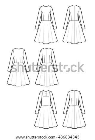 dress sketch set