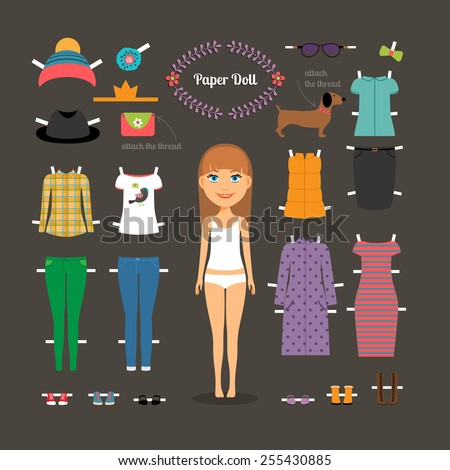 dress up paper doll with big