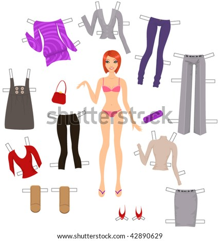 Dress-up paper dolls