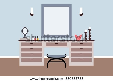 dressing table interior in flat
