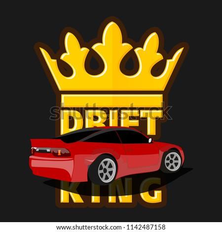 drift car logo  drift king