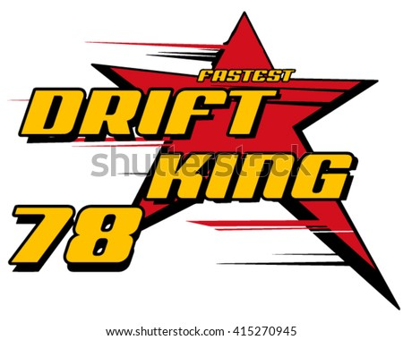 drift king vector cartoon