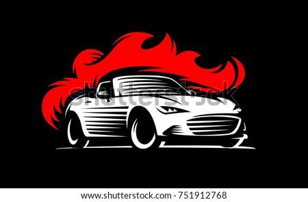 drift sport car in dark