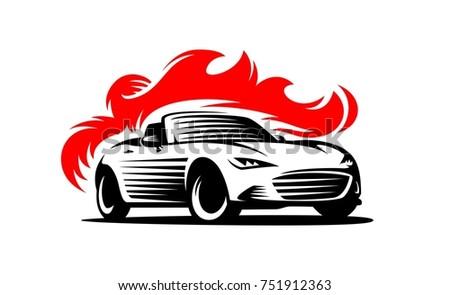 drift sport car silhouette