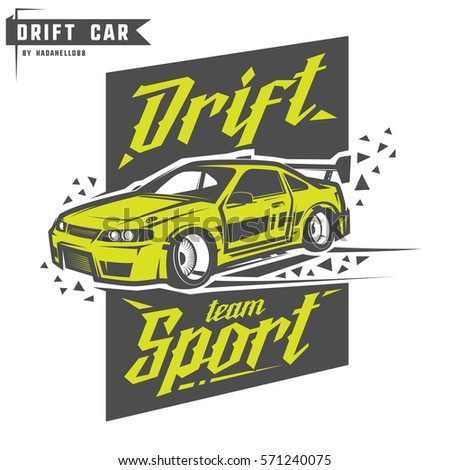 drift sport team print for t