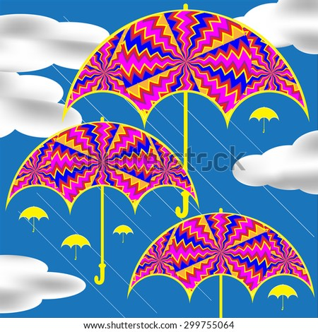 drifting umbrellas