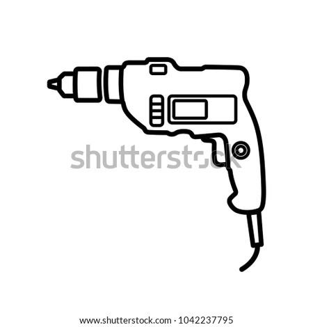 drill - electric drill icon vector