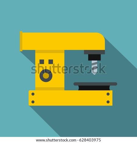 drilling machine icon flat