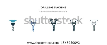 drilling machine icon in different style vector illustration. two colored and black drilling machine vector icons designed in filled, outline, line and stroke style can be used for web, mobile, ui