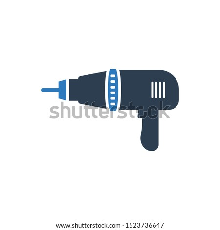 Drilling machine icon. Trendy Drilling machine logo concept Industry collection