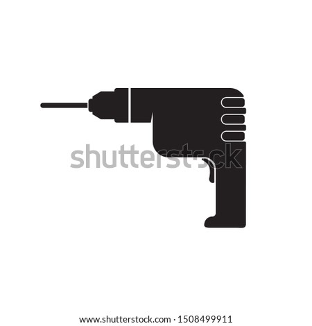Drilling machine icon. Trendy Drilling machine logo concept on white background from Industry collection. Suitable for use on web apps, mobile apps and print media. eps 10