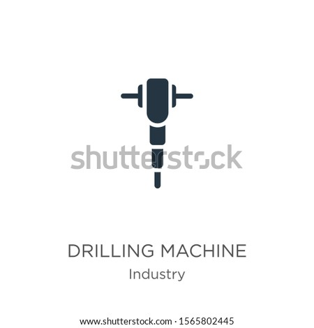 Drilling machine icon vector. Trendy flat drilling machine icon from industry collection isolated on white background. Vector illustration can be used for web and mobile graphic design, logo, eps10