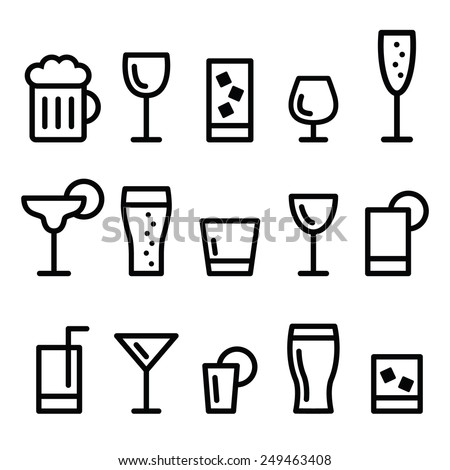 drink alcohol beverage vector