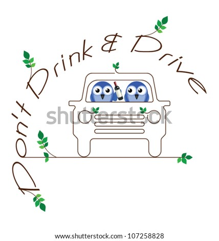 Drink and Drive twig text message isolated on white background