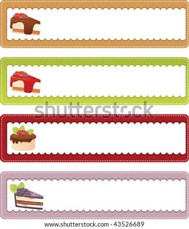 Drink banners set - vector