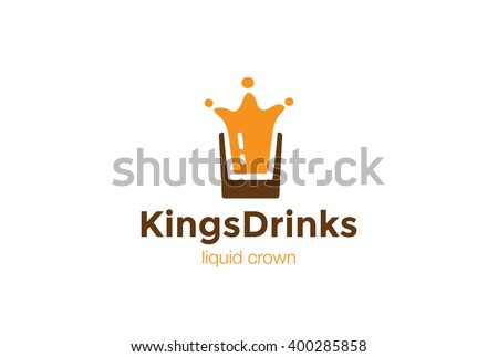 drink glass splash as crown