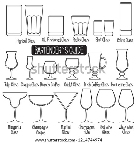 drink glasses with titles