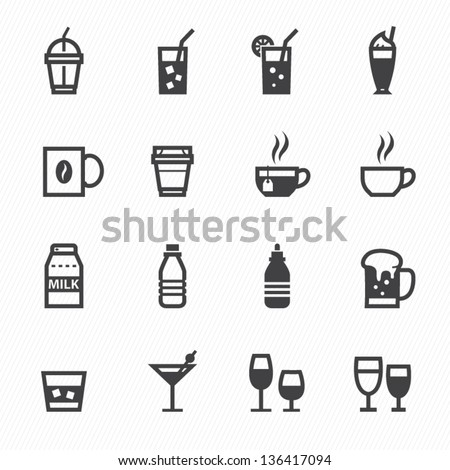 Drink icons with White Background