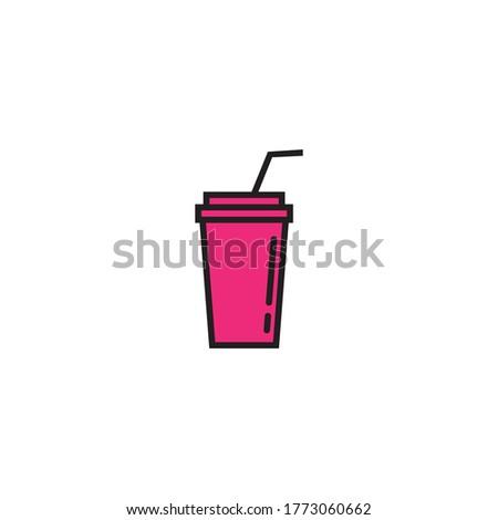 Drink logo template vector icon design