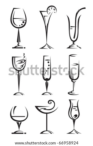drinking glass collection