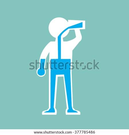 Drinking water -vector