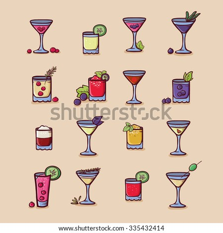 drinks for the cocktail menu