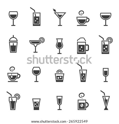 Shutterstock Drinks icons set.