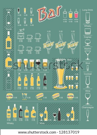 drinks info graphic elements