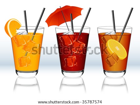 Drinks, vector illustration, EPS file included - stock vector