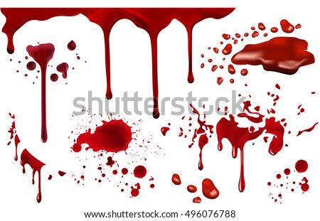 dripping blood isolated on