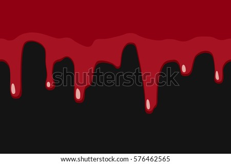 dripping blood or red paint