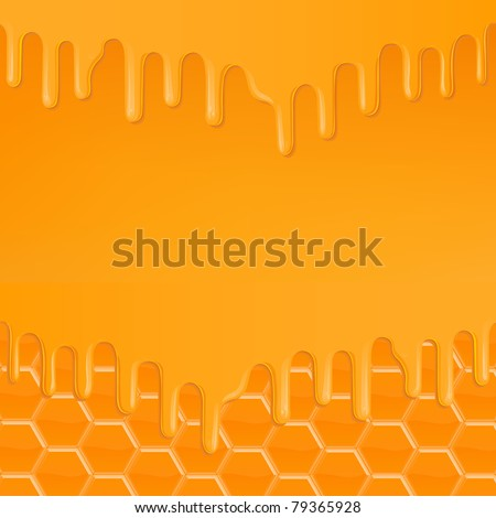 dripping honey abstract sweet background