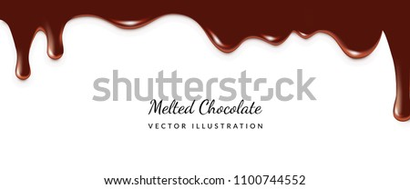 dripping melted chocolates