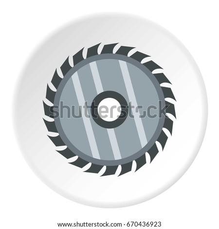 Drive for saw icon in flat circle isolated vector illustration for web
