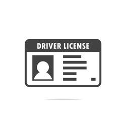 Driver license icon vector transparent