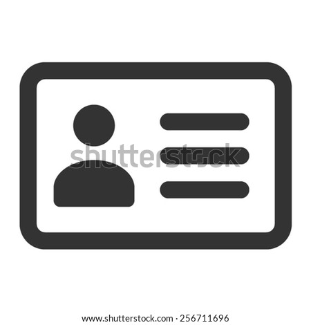 Driver's license identification / ID card line art icon