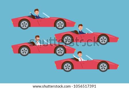 drives the car at the wheel
