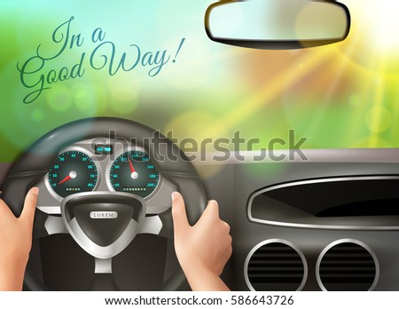 driving car colored background