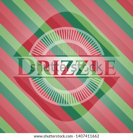 Drizzle christmas emblem background. Vector Illustration. Detailed.