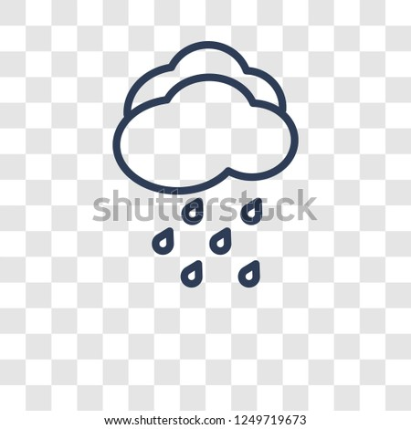 Drizzle icon. Trendy Drizzle logo concept on transparent background from Weather collection