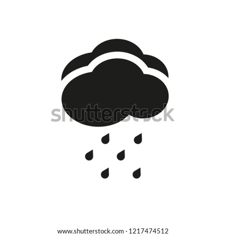 Drizzle icon. Trendy Drizzle logo concept on white background from Weather collection. Suitable for use on web apps, mobile apps and print media.