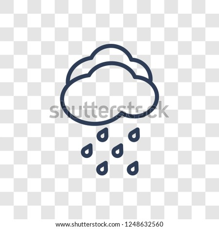 Drizzle icon. Trendy linear Drizzle logo concept on transparent background from Weather collection
