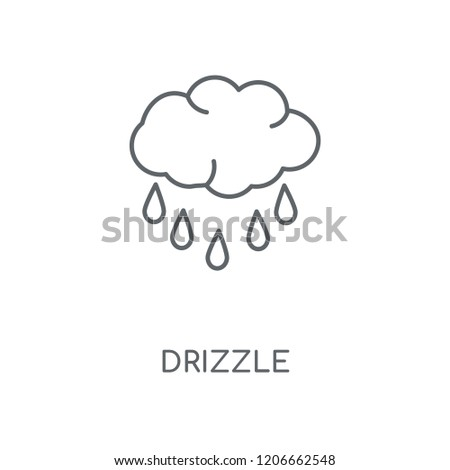 Drizzle linear icon. Drizzle concept stroke symbol design. Thin graphic elements vector illustration, outline pattern on a white background, eps 10.