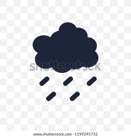 Drizzle transparent icon. Drizzle symbol design from Weather collection. Simple element vector illustration on transparent background.