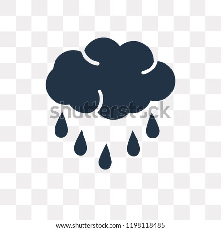 Drizzle vector icon isolated on transparent background, Drizzle transparency concept can be used web and mobile