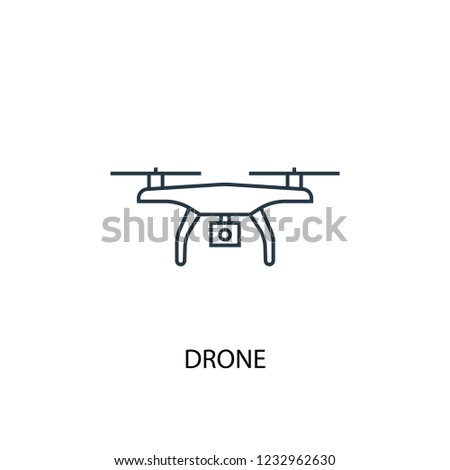 drone concept line icon. Simple element illustration. drone concept outline symbol design. Can be used for web and mobile UI/UX